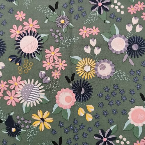 Rosewood Green Flowers FQ