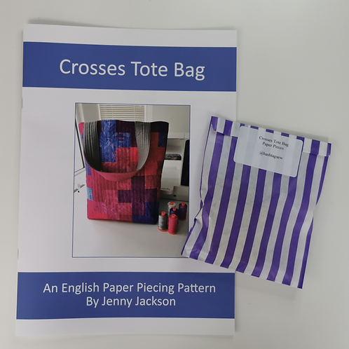 Crosses Tote bag Paper Pattern and Paper Pieces