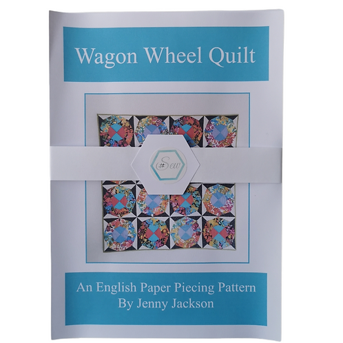 Wagon Wheel Epp Quilt Paper Pattern ONLY