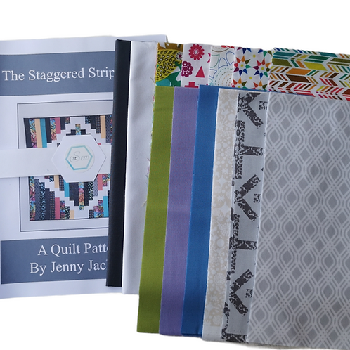 The Staggered Strip Quilt Art Theory Kit - White