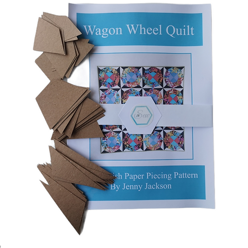 Wagon Wheel Epp Quilt Paper Pattern & full pack paper pieces