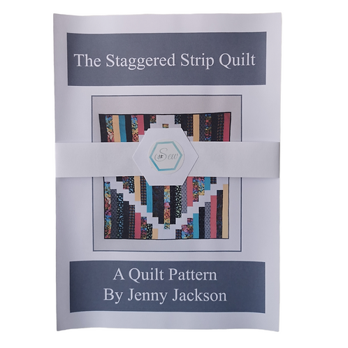 Staggered Strip Quilt Paper Pattern ONLY