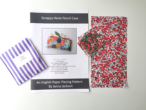 Scrappy Hexie Pencil Case Kit 6
