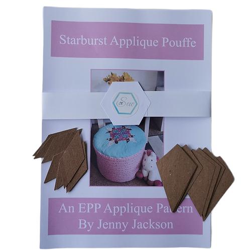 Starburst Applique Pouffe Paper Patten and Paper Pieces