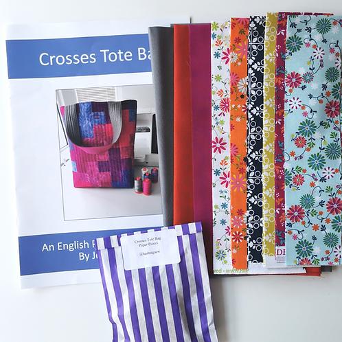 Crosses Tote Bag Kit Springtime Colourway