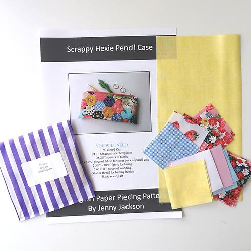 Scrappy Hexie Pencil Case Strawberry Jam Kit