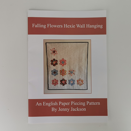 Falling Flowers Hexie Wall Hanging Paper Pattern ONLY