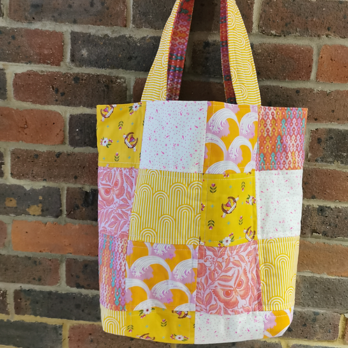 The All Squares Tote Bag PDF DOWNLOAD Pattern
