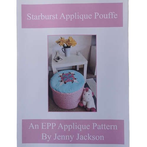 Starburst Applique Pouffe PDF DOWNLOAD Pattern