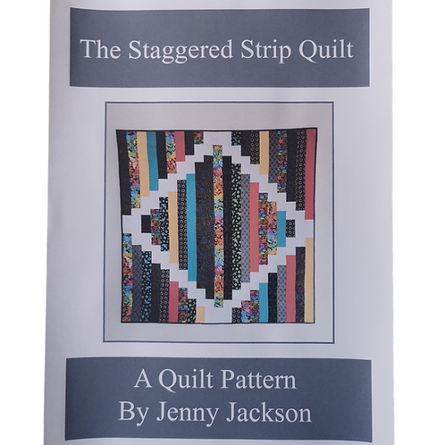 The Staggered Strip Quilt Pattern PDF  DOWNLOAD ONLY