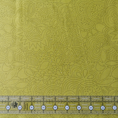 Alison Glass Sunprint 2020 Stitched Chartreuse END OF BOLT