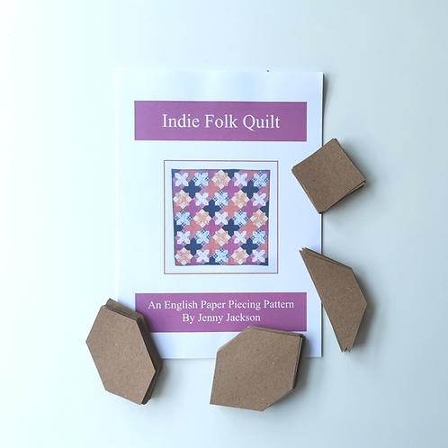 Indie Folk EPP Quilt Paper Pattern & Paper Pieces