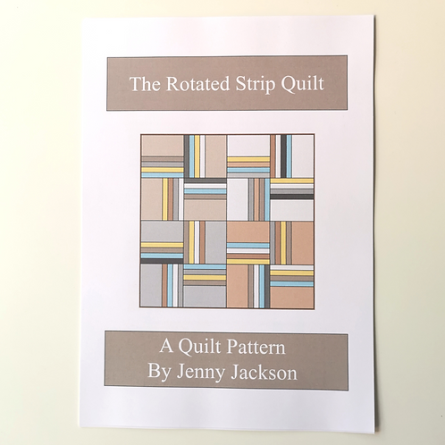 The Rotated Strip Quilt Pattern