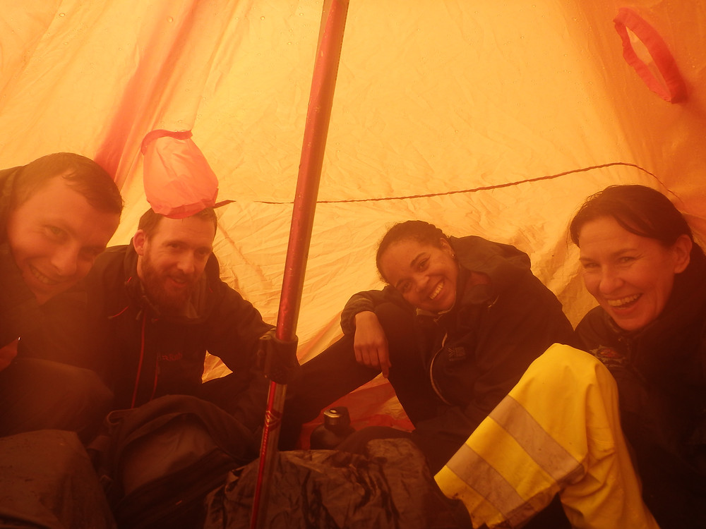 Warm and dry in a group shelter