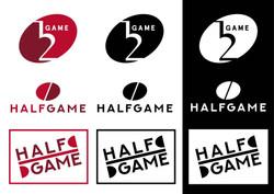 Half Game logo design 2-02