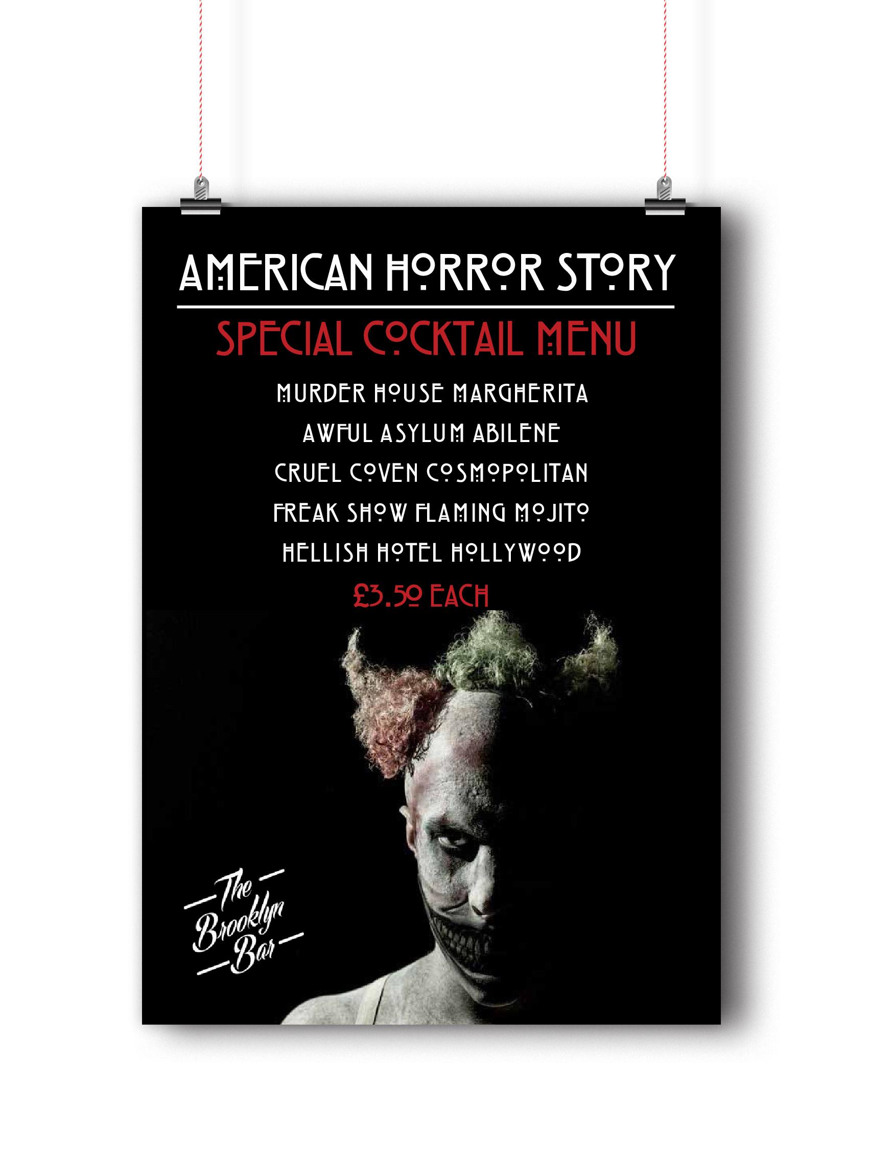 American Horror Story Menu