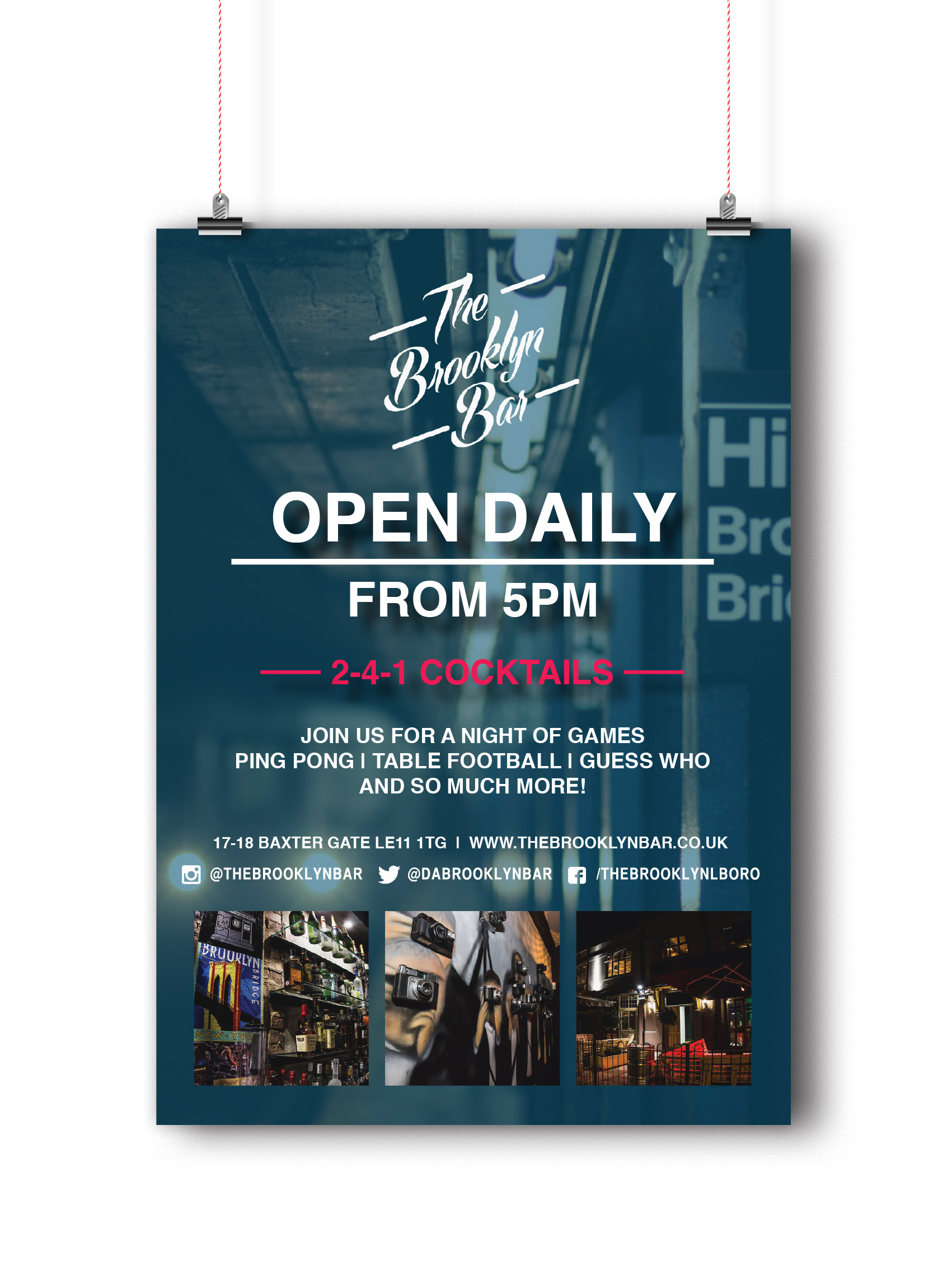 Opening times flyer