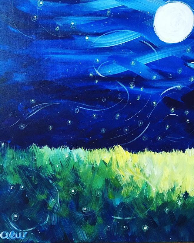 I painted this firefly piece in August 2016 in Cape Cod, MA