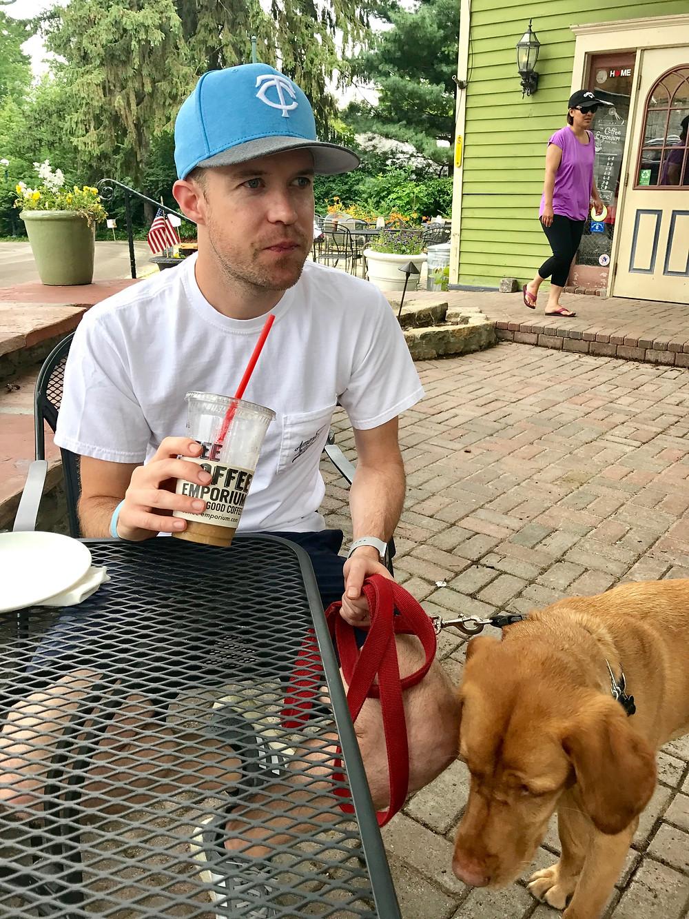 Father's Day, 2017 Chris wearing his new Joe blue Minnesota Twins hat