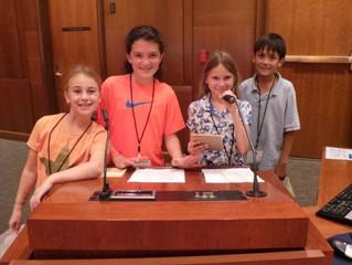 KidUnity Advocates to the Santa Monica Mayor Pro Tempore at City Hall
