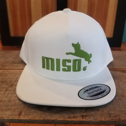 White with Moss Green Yupoong Classic Snapback