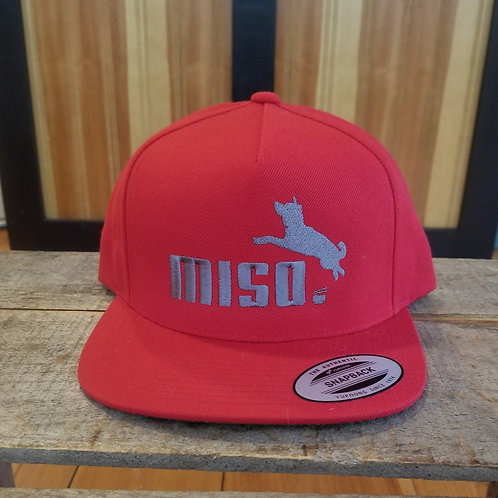 Red with Slate Yupoong Classic Snapback