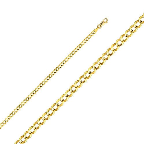 14k Yellow Gold 3.6-mm Cuban Chain Necklace