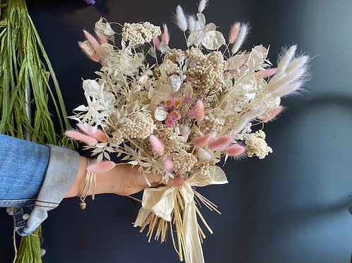 Pastel dried bouquet