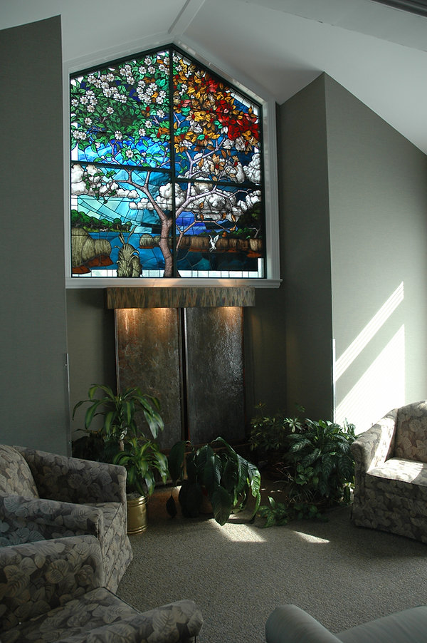Four seasons | Hospice window | Stained glass