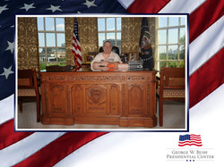 Mike at Bush Library
