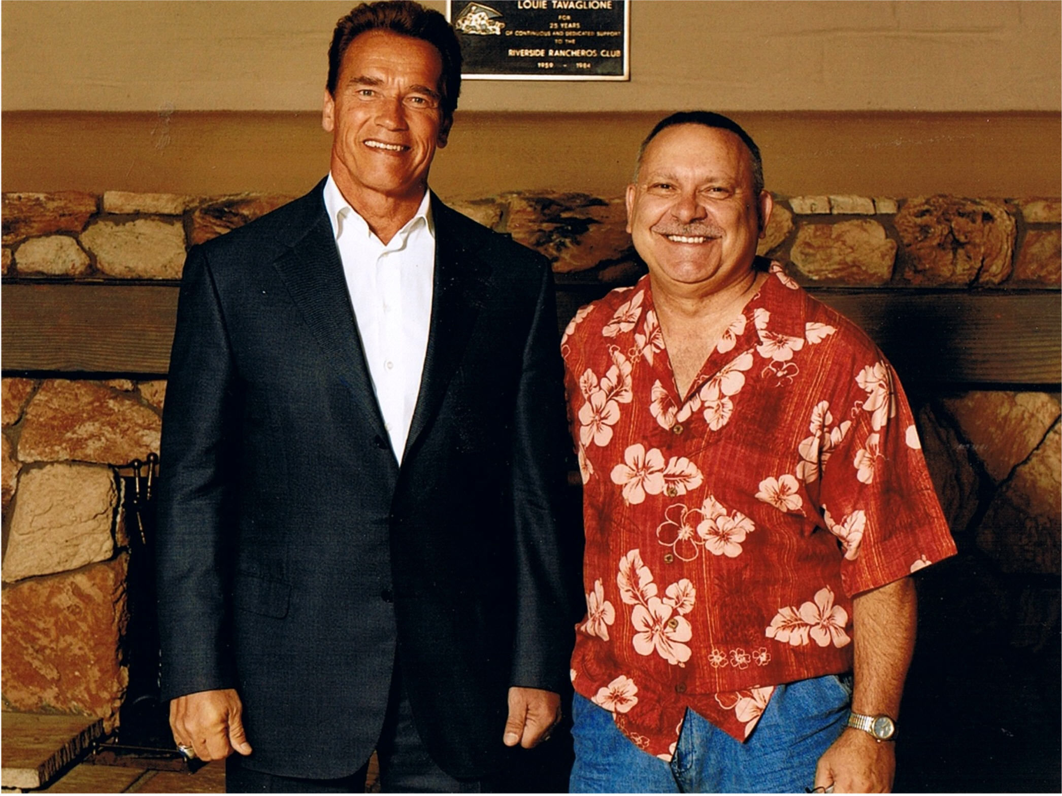 Mike & Arnold Schwarzenegger
