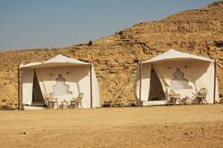 Glamour camping in the Israeli deser