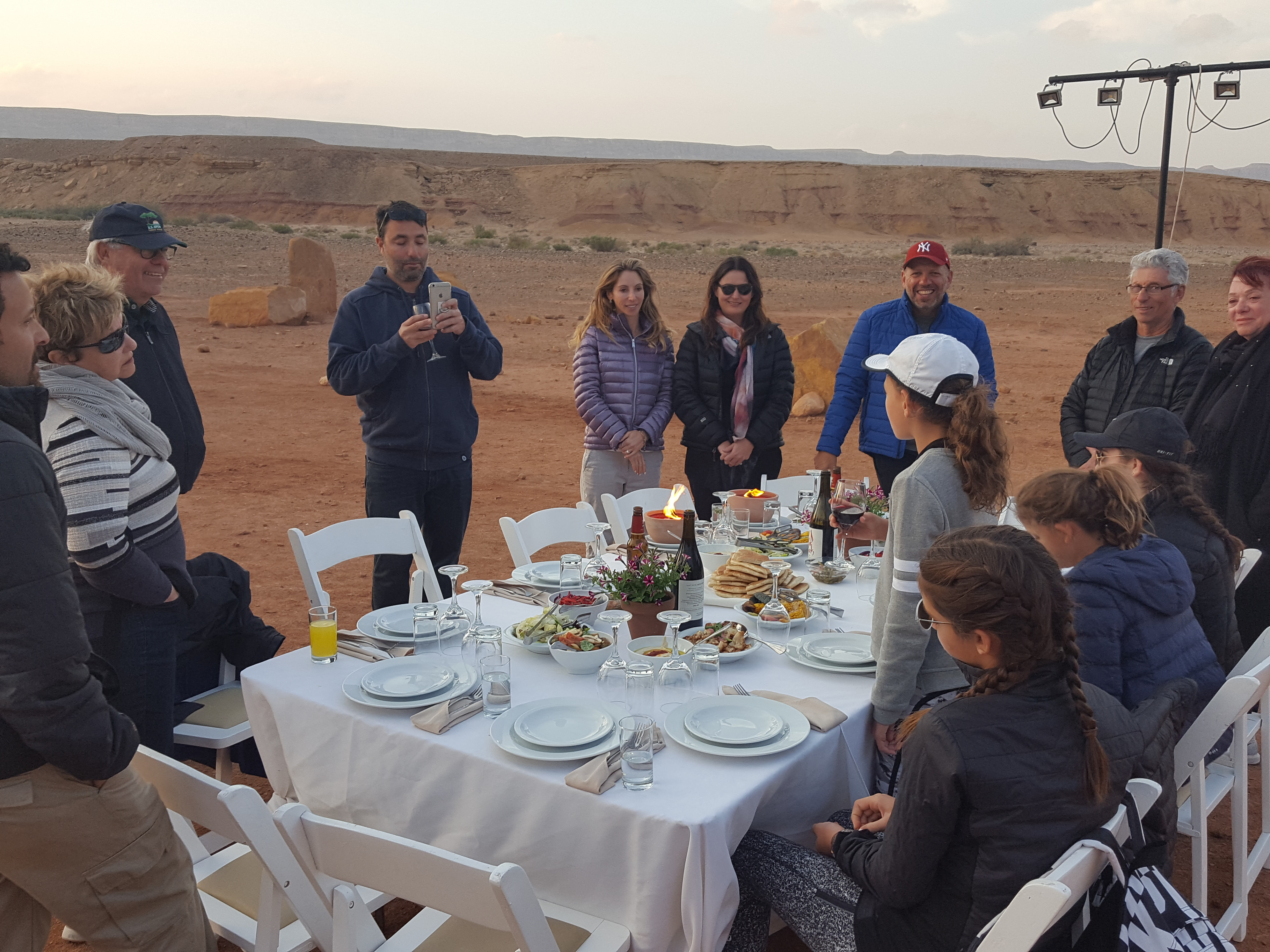Special Birthday meal in the desert