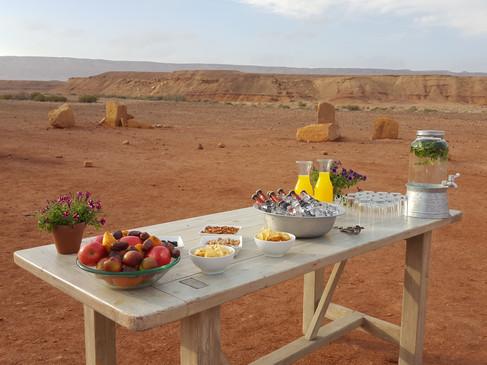 Festive sunset celebration in Mitzpe Ramon Crater