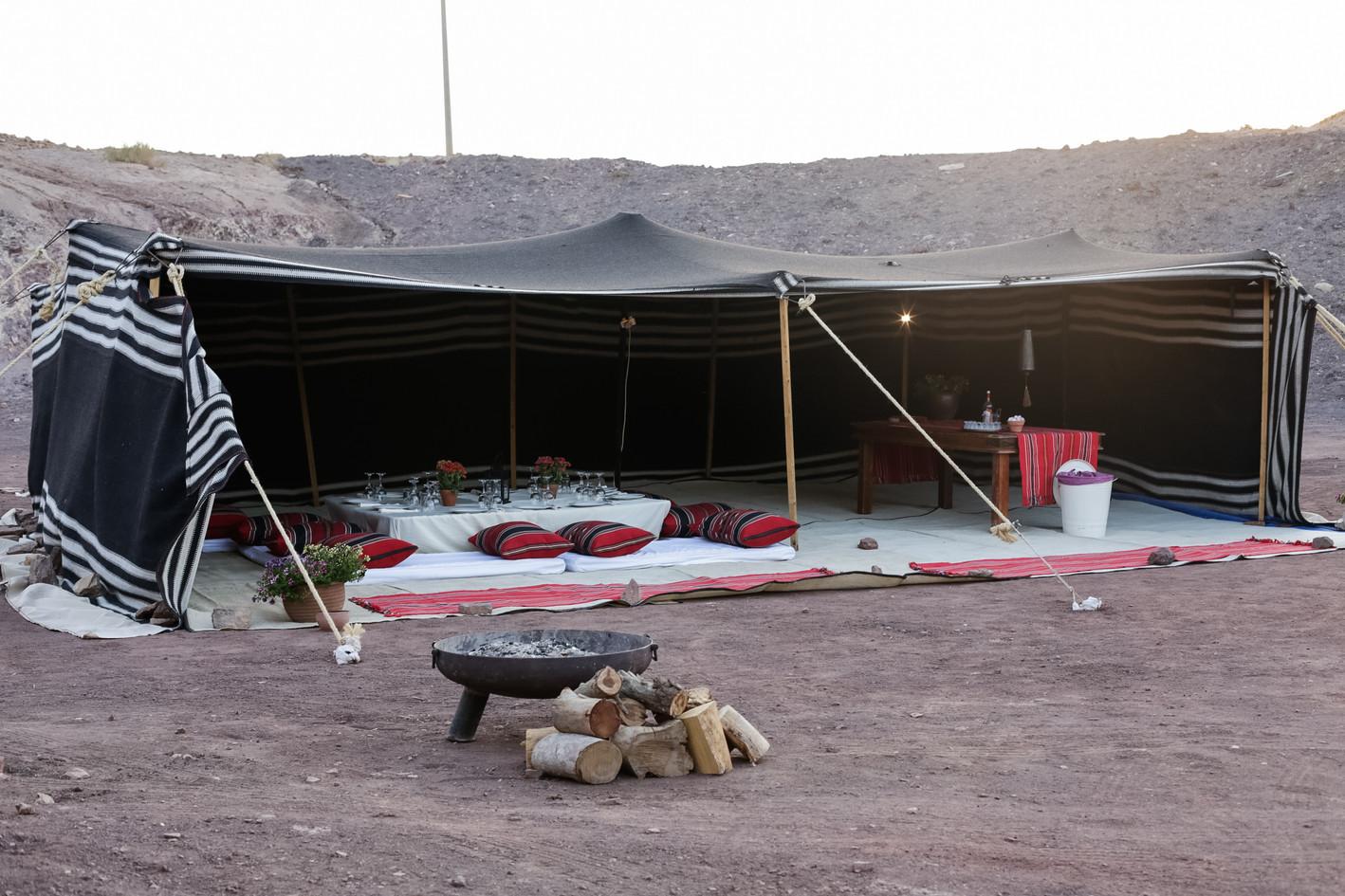 Deluxe Bedouin style desert dinner in a Bedouin tent Israel