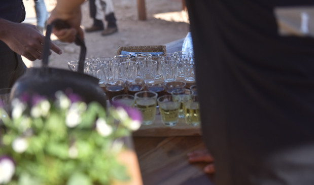 Tea  time on a Ramon Crater feast