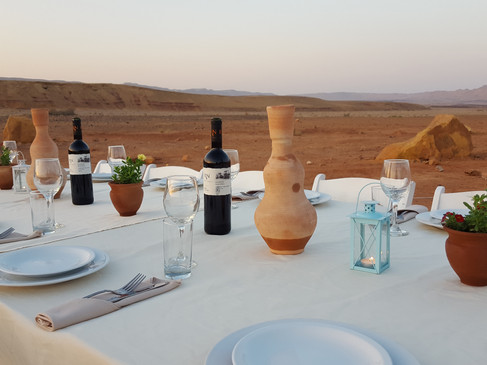 Deluxe meal with clay jugs to chill the water