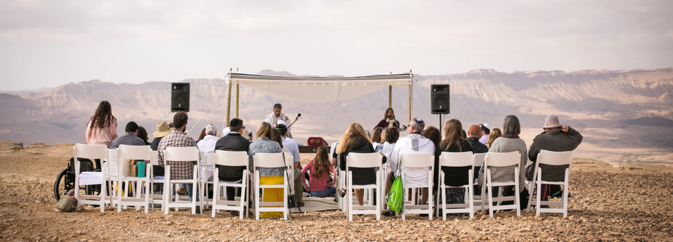 Israel Bar-Mitzvah ceremony on the rim of the Ramon Crater