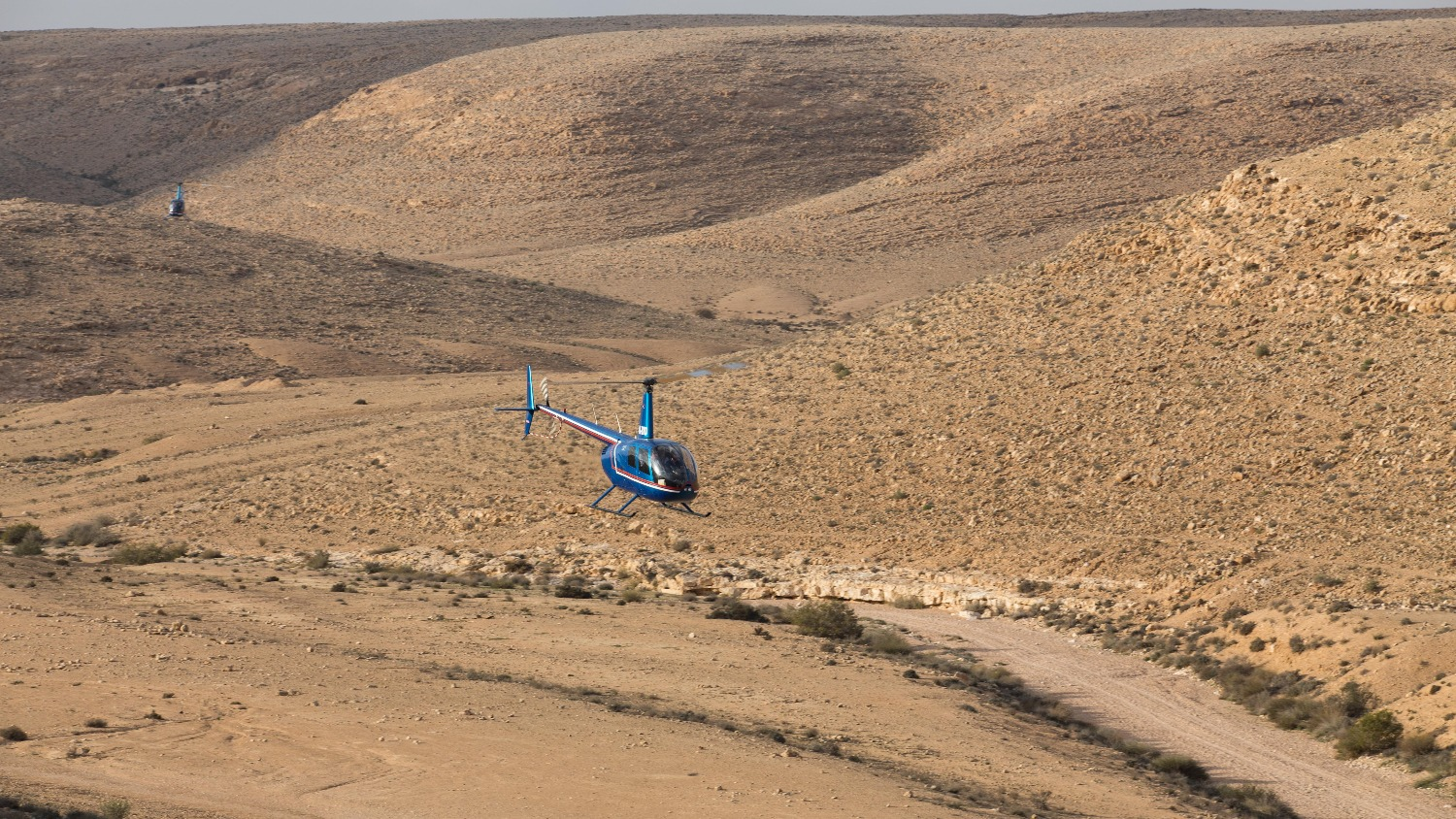 Helicopter ride to the Ramon Crater
