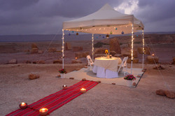 Romantic dinner in Mitzpe Ramon