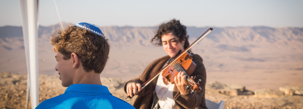 Bar-Mitzvah celebration in the Negev desert Israel
