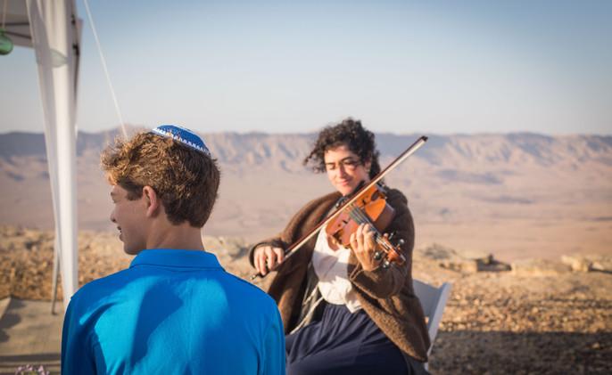 Bar-Mitzvah celebration in the Negev desert Israel