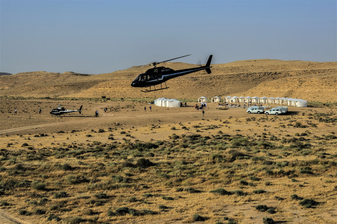 Helicopter tour & Luxury desert glamping in Israel