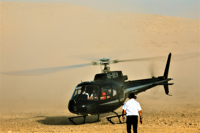 Israel Helicopter flights to the Negev Desert