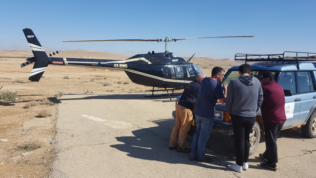 VIP helicopter tours in Israel and to Mitzpe Ramon