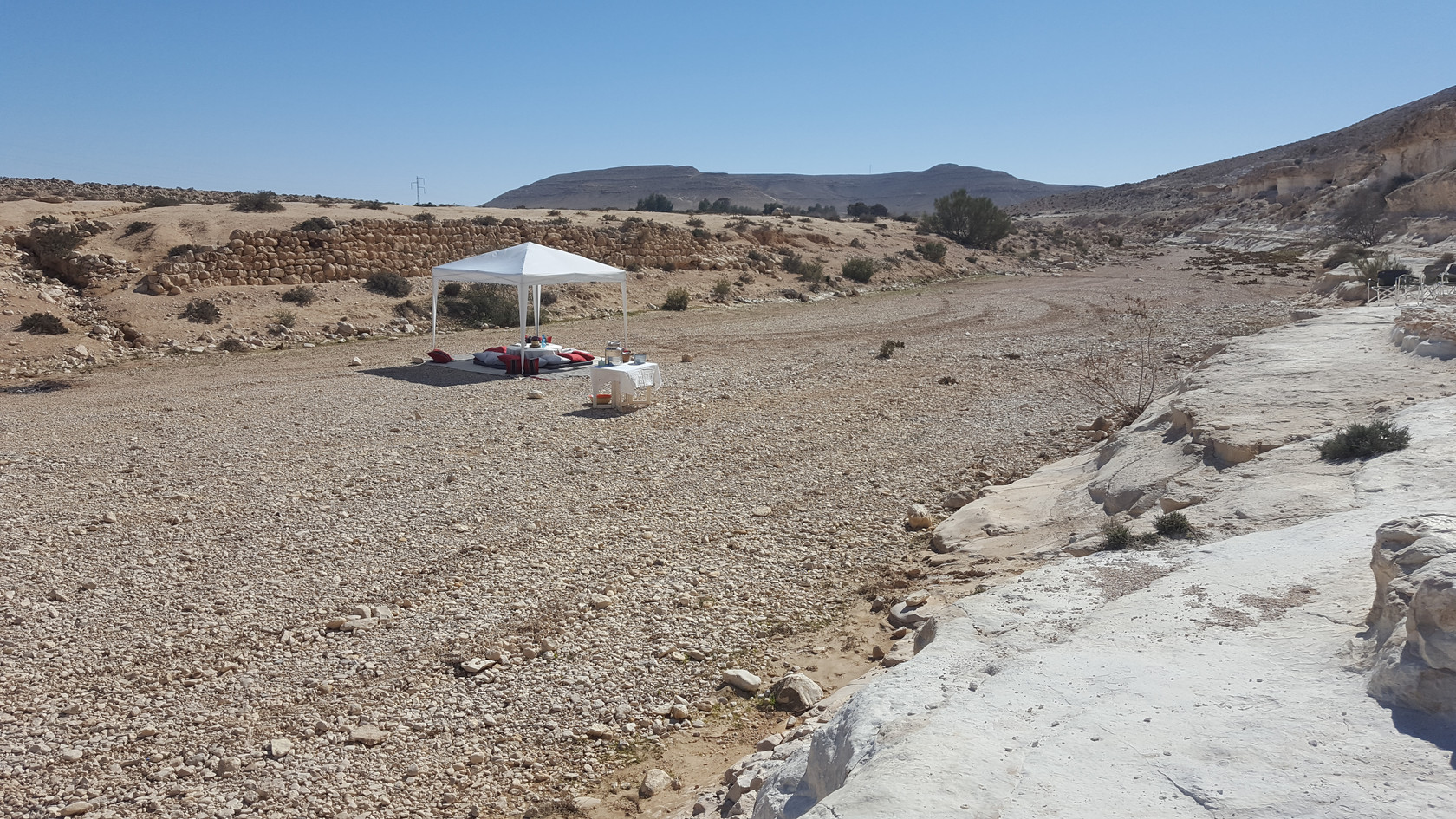 Luxury Lunch for a family in the desert Israel