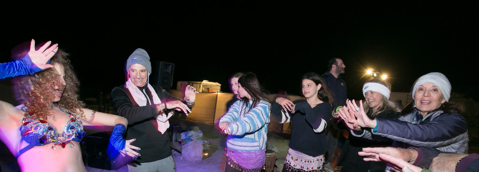 Desert party in the Ramon CraterIsrael