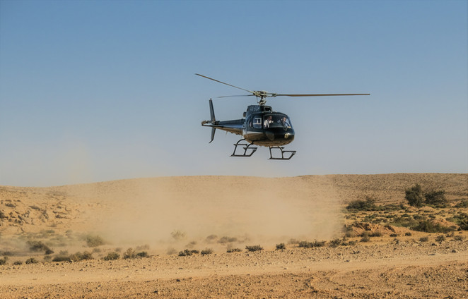 Exciting helicopter rides over the Negev and Israel