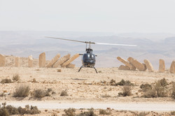 Israel helicopter in Mitzpe Ramon
