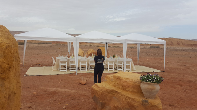 Deluxe meal in the Ramon Crater